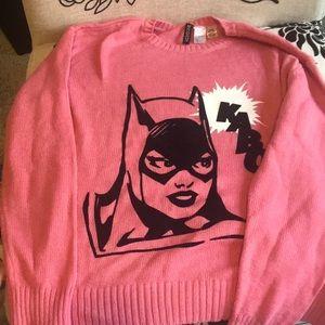 Forever 21 DC Batgirl Kaboom! Pink Sweater